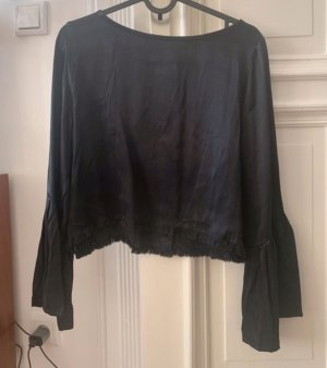 Faithfull the brand Glanzende blouse donkerblauw