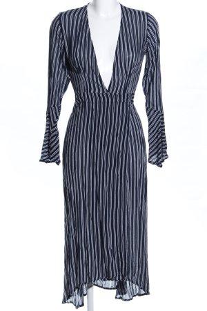 Faithfull Wickelkleid schwarz-weiß Streifenmuster Casual-Look