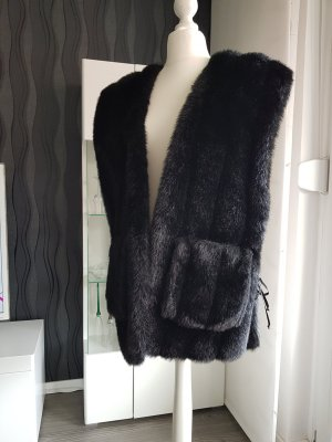 Fake Fur Vest black