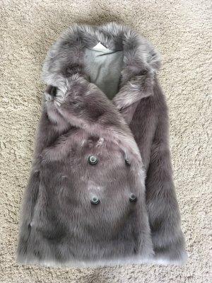 Roxy Chaleco de piel gris