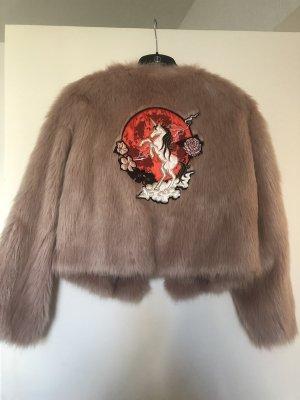 Fake Fur Bomber *nicki minaj X h&m*