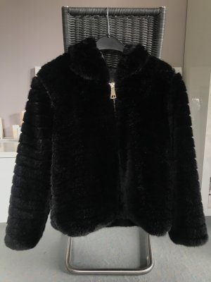 Anonyme Designers Futrzana kurtka czarny