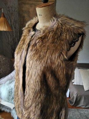 Fake Fur Fellweste, Gr.38