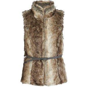 Fake Fur Fellweste Weste Gilet von Only Herbst Winter Gr. S meliert Blogger