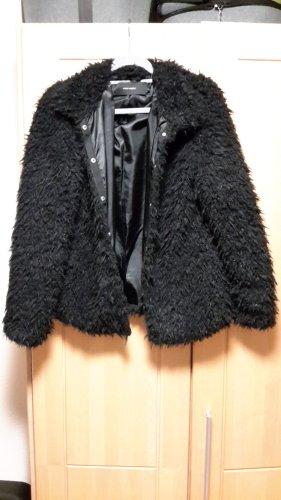 Vero Moda Kurtka ze sztucznym futrem czarny Poliester