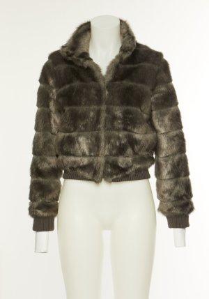 H&M Divided Fur Jacket multicolored mixture fibre