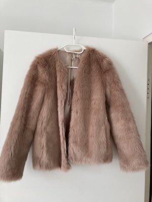 H&M Chaqueta de piel sintética rosa empolvado
