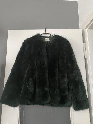 Fake Fur Jacke dunkelgrün