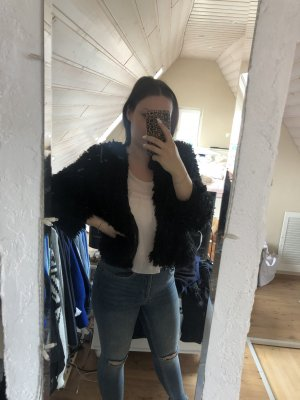 Brave Soul Fake Fur Jacket black