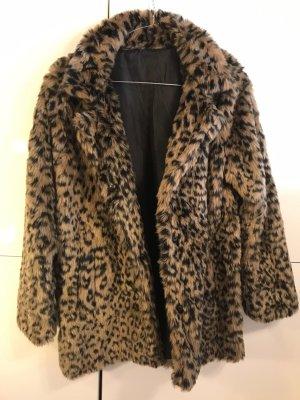 Fake Fur Jacke Leo Gr  36