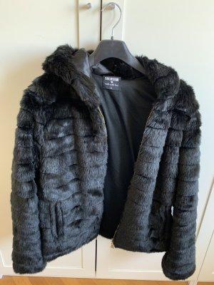 Fake Fur-Jacke mit Kapuze