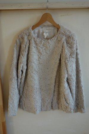 Monki Fur Jacket oatmeal polyester
