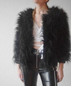 Fake Fur Jacket black mixture fibre