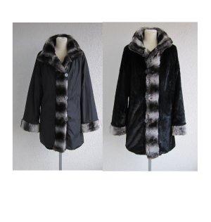 Dennis Basso Fake Fur Jacket black-beige