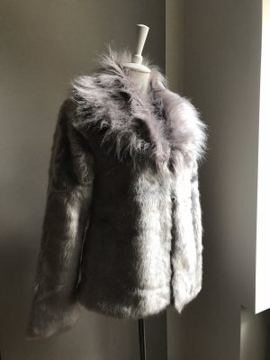 A & G Fake Fur Jacket multicolored