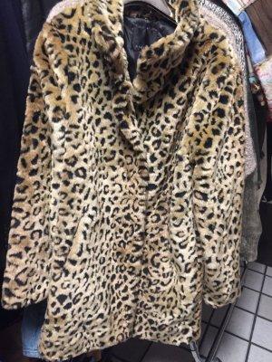 Amisu Fake Fur Coat multicolored