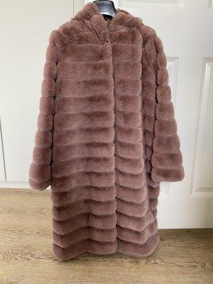 King Kong Cappotto in eco pelliccia rosa antico