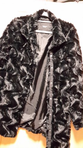 Vero Moda Manteau en fausse fourrure noir polyester