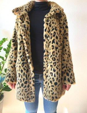 Amisu Fur Jacket beige-black