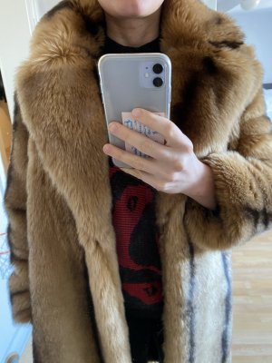 AndOtherStories Fake Fur Coat multicolored