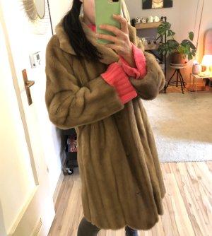 Fake Fur Coat multicolored
