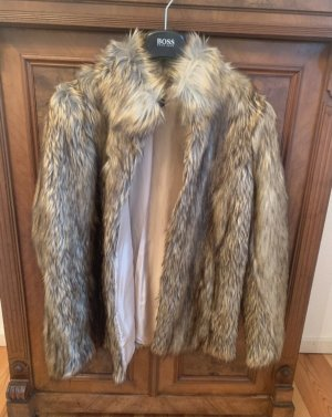 Fake Fur Mantel Topshop