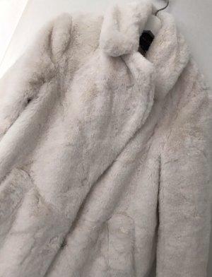 New Look Fake Fur Coat natural white