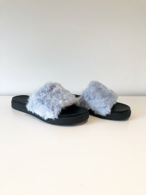 Asos Shoes Klapki na obcasie czarny-błękitny