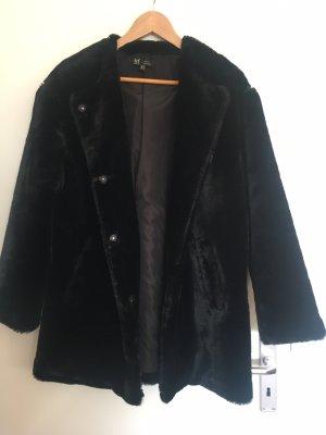 Zara Woman Chaqueta de piel sintética negro