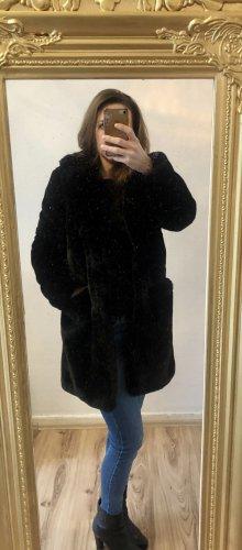 Fake fur / Webpelz Mantel schwarz