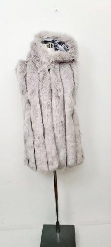 Keine Marke Fake Fur Vest light grey