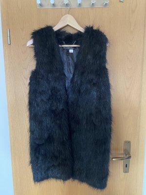 H&M Kamizelka ze sztucznym futrem czarny