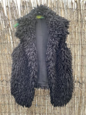 Fake-Fur-Weste, schwarz Gr. 42, Marc Cain Sports