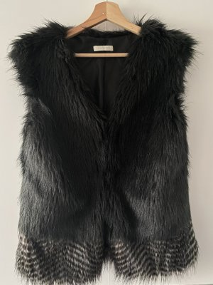 Fake-Fur-Weste / Teddy-Weste / Fell-Weste in Schwarz