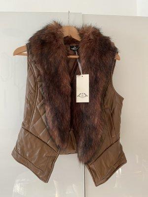 Fake Fur Weste , tolle Verarbeitung