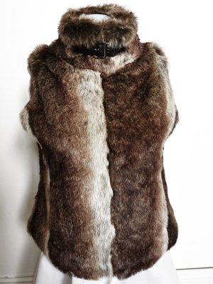 Chillytime Fur vest brown-light grey
