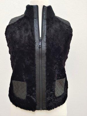 Taifun Fake Fur Vest black
