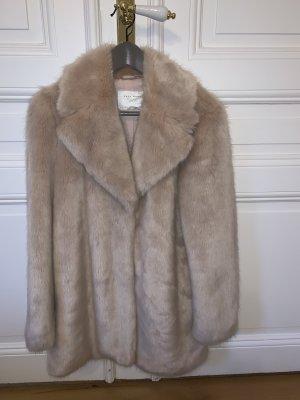 Fake-Fur Zara Mantel in altrosa
