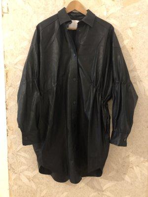 Lala Berlin Chaqueta de cuero de imitación negro