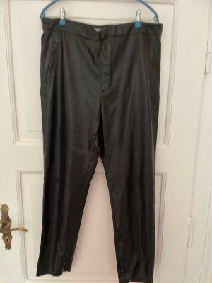 Zara Woman Pantalon en cuir noir