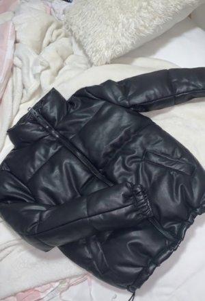 Fake Leder jacke schwarz