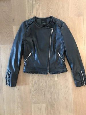 Fake Leder Jacke von Zara