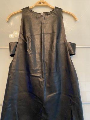 Forever 21 Vestido de cuero negro