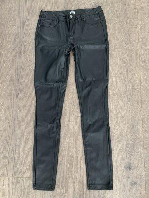 Pimkie Pantalón de cuero negro