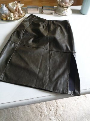 Faux Leather Skirt taupe