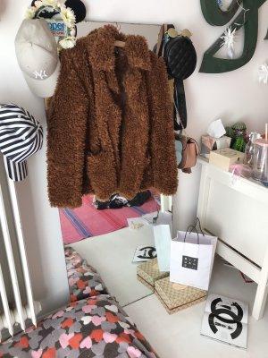 H&M Divided Giacca in eco pelliccia marrone