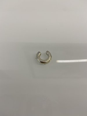 Pendientes de clip color plata