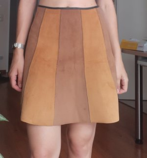 Bikbok Spódnica z imitacji skóry camel-piaskowy brąz