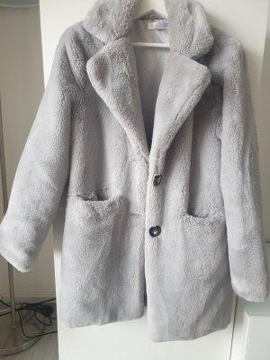 Futrzana kurtka Wielokolorowy Tkanina z mieszanych włókien