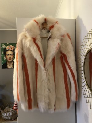 Glamorous Fur Jacket white-orange